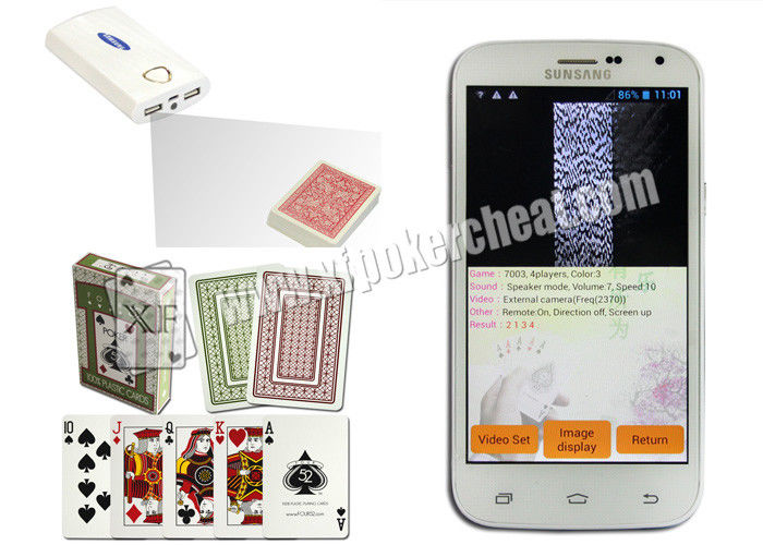 American FOUR 52 Marked Invisible Cheating Poker Cards With Sides Bar Codes