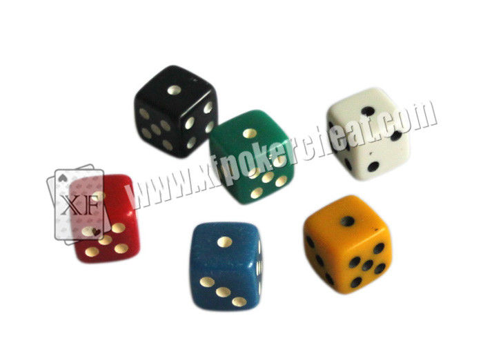 Colorful Plastic Casino Magic Dice / Magic Trick Dice For Radio Wave Dice Predictor