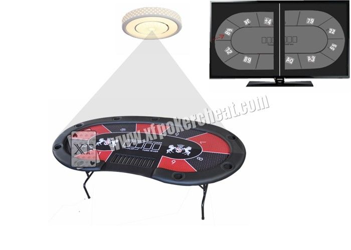 LED Lamp Pinhole Camera With Monitoring System For Texas Omaha Gambling Game