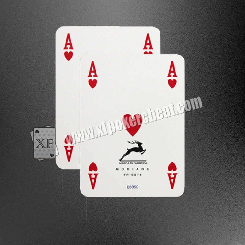 Italy Plastic ModianoGolden Trophy N1 Marked Poker Cards 63x88 mm