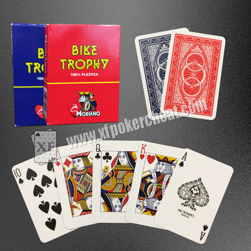 Water Proof Gambling Props Italy Original Plastic Modiano playing Cards