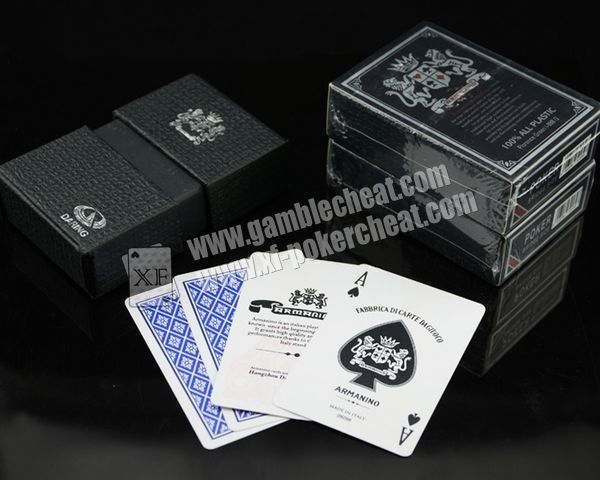 Italy Armanino Plastic Playing Cards Marked With Invisible Ink Marking For Baccarat