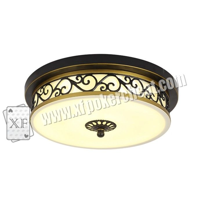 Glass Material Modern Ceiling Light Hidden Camera For Long Distance Infrared Playing Card Scanner