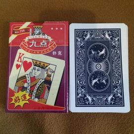 Cina No.758 Paper Playing Cards With Marking pattern Small letter and 2 Numbers pabrik