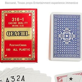 Cina QEACHI Plastic Playing Cards With Invisible Ink Bar-Codes Markings For Poker Analyzer Scanner pabrik