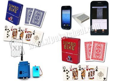 Italy Plastic Modiano Bike Trophy Marked Poker Cards Red / Blue for Poker Analyzer