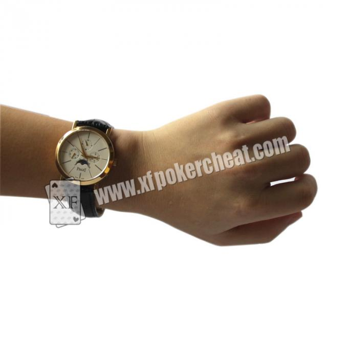 New Design Poker Scanner Leather Watch Camera With Power Bank