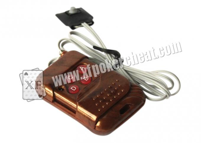 Brown Plastic Lighter Double Lens Camera With Remote Control