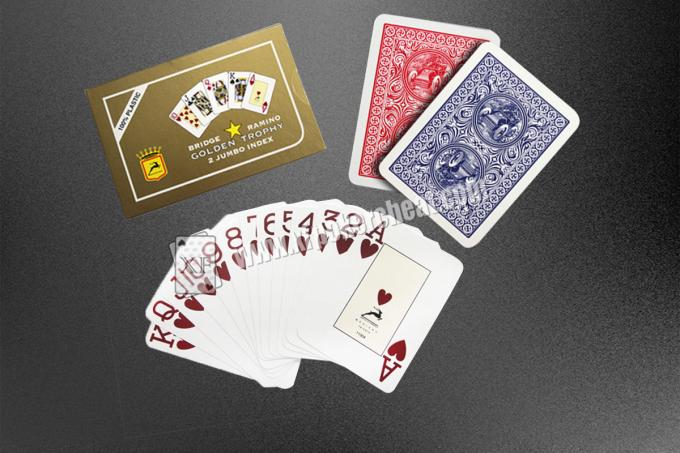 Spy Camera Poker / Cheat Marked Jumbo Index Plastic Playing Cards
